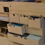 Für alle Kleinigkeiten eine Schublade, fein säuberlich beschriftet.